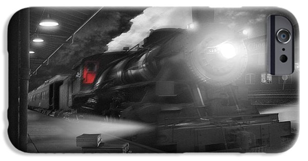 Walkway Digital Art iPhone Cases - Pulling Out iPhone Case by Mike McGlothlen
