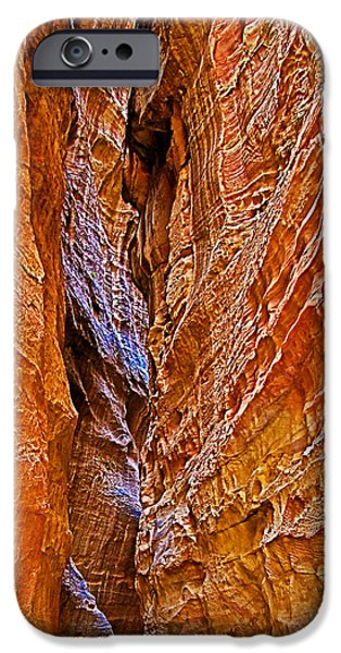 Puppy Digital iPhone Cases - PUPPY SQUEEZE Rock in Petra-Jordan iPhone Case by Ruth Hager