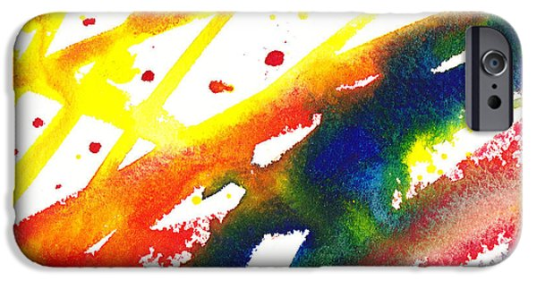 Abstractions iPhone Cases - Pure Color Inspiration Abstract Painting Parallel Perception iPhone Case by Irina Sztukowski