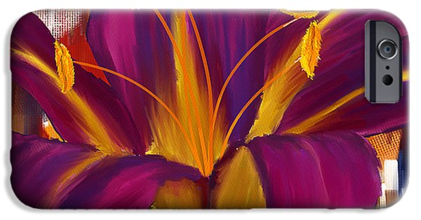 Purple Art iPhone Cases - Purple Blast iPhone Case by Lourry Legarde