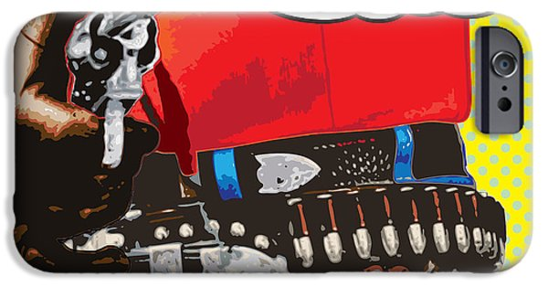 Decorative Digital Art iPhone Cases - Put Em Up iPhone Case by Gary Grayson