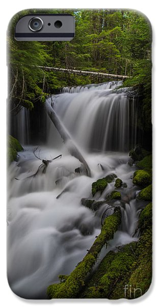 Poetic Photographs iPhone Cases - Quiet Falls iPhone Case by Mike Reid