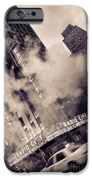 Nyc Pyrography iPhone Cases - Radio City Music Hall NY iPhone Case by Fernando Tobar