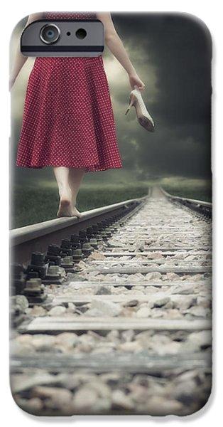 railway tracks iPhone Case by Joana Kruse