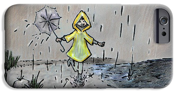 Rainy Day iPhone Cases - Rain Puddles iPhone Case by Tanya Hamell