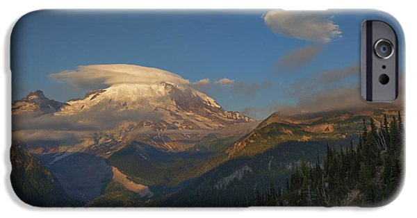 White River iPhone Cases - Rainier Capped iPhone Case by Mike  Dawson