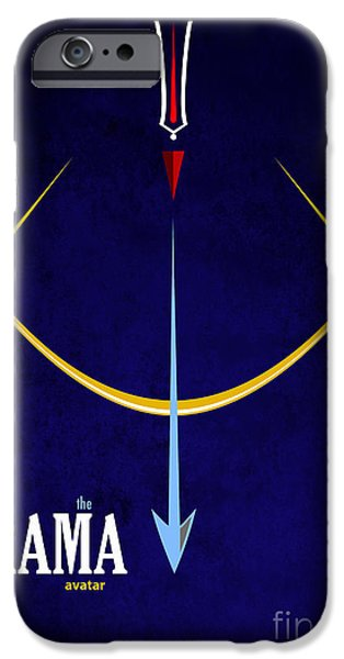 Incarnation iPhone Cases - Rama The Avatar iPhone Case by Tim Gainey
