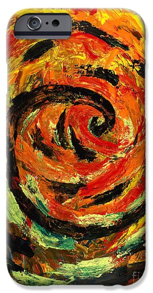 Bipolar Paintings iPhone Cases - Rapid Cycling iPhone Case by Walt Brodis