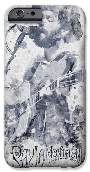Sun Rays Mixed Media iPhone Cases - Ray Lamontagne Portrait iPhone Case by Aged Pixel