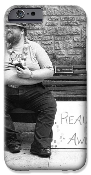 Character Portraits Photographs iPhone Cases - Reality Is Awesome c iPhone Case by Jerry Cordeiro