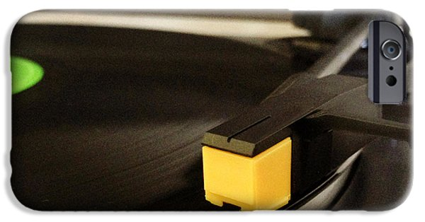 Electronics Photographs iPhone Cases - Record player iPhone Case by Les Cunliffe
