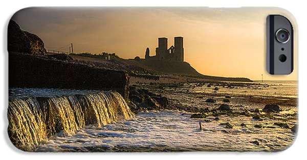 Marys iPhone Cases - Reculver Sunset iPhone Case by Ian Hufton