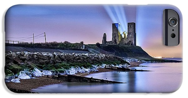 Marys iPhone Cases - Reculver Towers at Night. iPhone Case by Ian Hufton