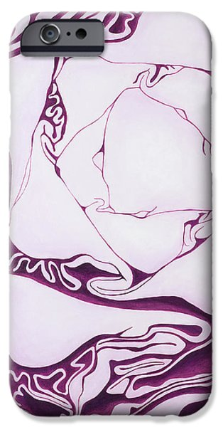 Red Cabbage iPhone Case by Garry McMichael