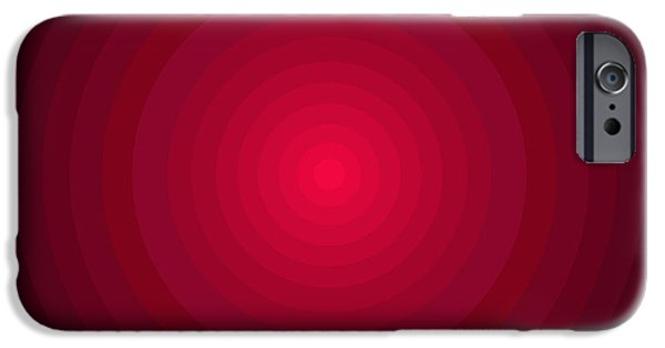 Disc iPhone Cases - Red Circles iPhone Case by Frank Tschakert
