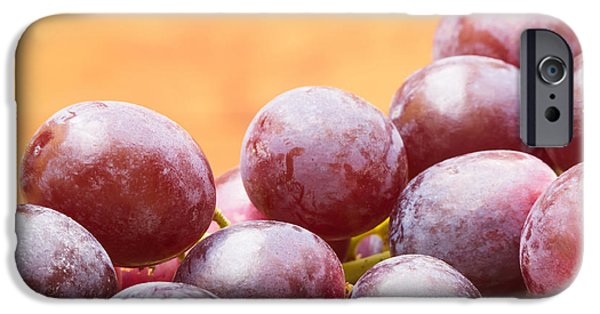Viticulture iPhone Cases - Red Grapes iPhone Case by Wim Lanclus