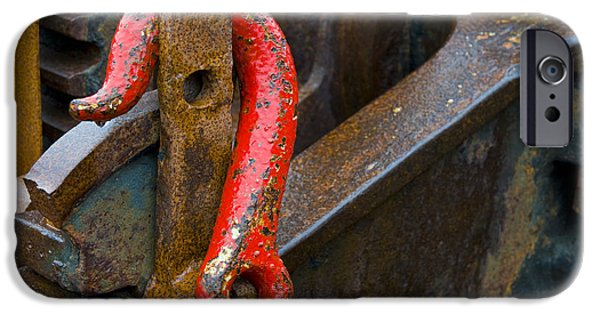Machinery iPhone Cases - Red Hook iPhone Case by John Shaw