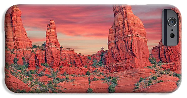 Recently Sold -  - Oak Creek iPhone Cases - Red Rocks iPhone Case by Paul Fell