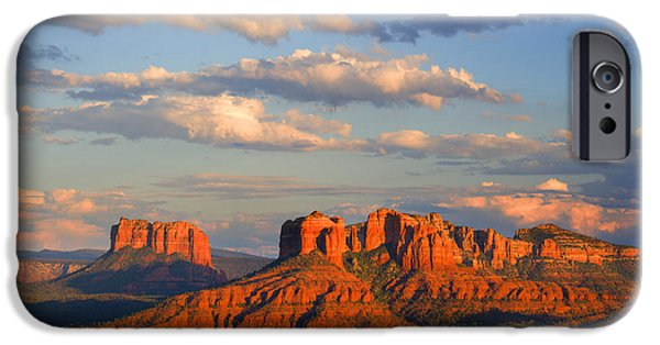 Recently Sold -  - Cathedral Rock iPhone Cases - Red Rocks sunset iPhone Case by Alexey Stiop