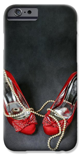 Posh iPhone Cases - Red Shoes iPhone Case by Joana Kruse