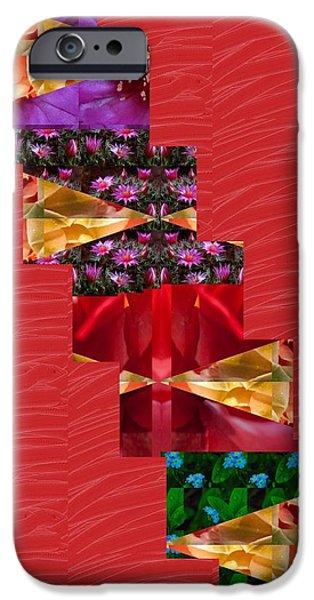 Diy iPhone Cases - Red Silken Base CROSS through Art Decoration iPhone Case by Navin Joshi