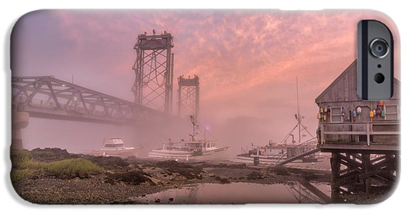 Lobster Shack iPhone Cases - Red Sky at Night iPhone Case by Scott Thorp