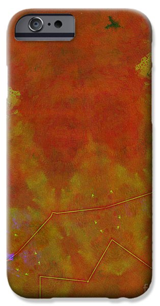 Constellations iPhone Cases - Red Space iPhone Case by Sandra Jereb