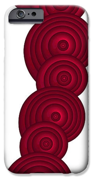 Texture iPhone Cases - Red Spirals iPhone Case by Frank Tschakert
