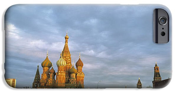 Palatial iPhone Cases - Red Square Moscow Russia iPhone Case by Panoramic Images