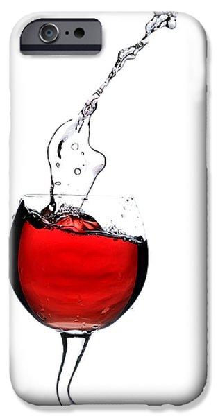 Pleasure iPhone Cases - Red wine iPhone Case by Andreas Berheide