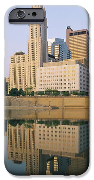 Absence iPhone Cases - Reflection Of Buildings In A River iPhone Case by Panoramic Images