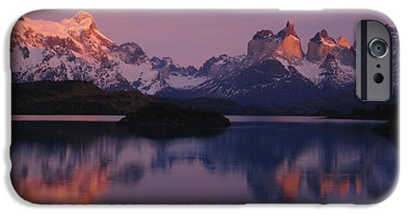 Mountain iPhone Cases - Reflection Of Mountains In A Lake, Lake iPhone Case by Panoramic Images