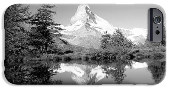 Mountain iPhone Cases - Reflection Of Trees And Mountain iPhone Case by Panoramic Images