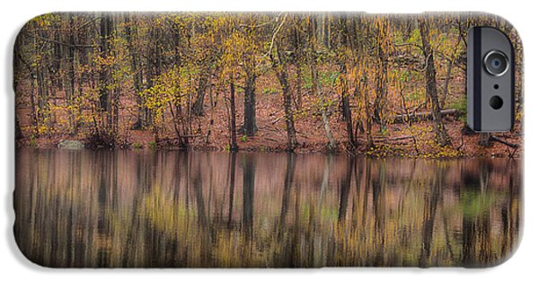 Reflection Of Trees iPhone Cases - Reflections Of Life iPhone Case by Karol  Livote