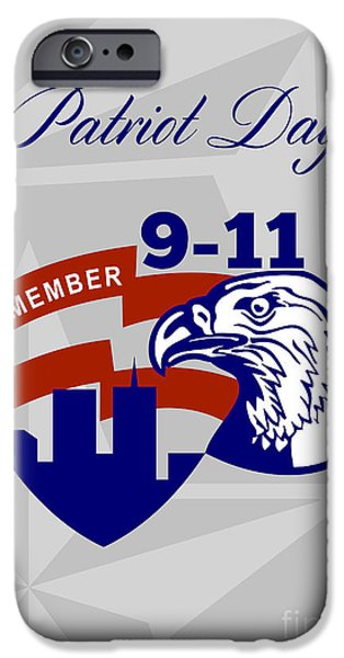 Patriots Day iPhone Cases - Remember 911  Patriots Day iPhone Case by Aloysius Patrimonio