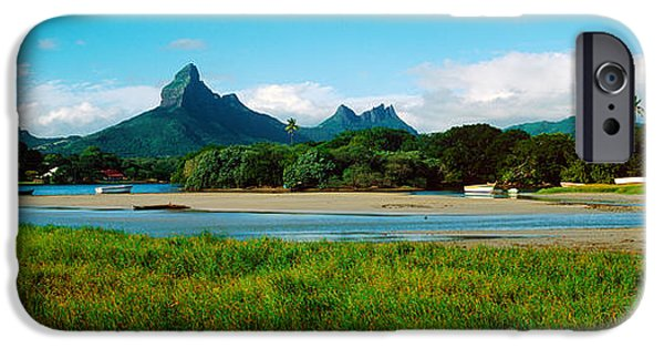 Mountain iPhone Cases - Rempart And Mamelles Peaks, Tamarin iPhone Case by Panoramic Images