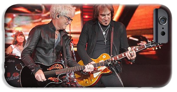 Dave iPhone Cases - REO Speedwagon Kevin Cronin w Dave Amato iPhone Case by Front Row  Photographs