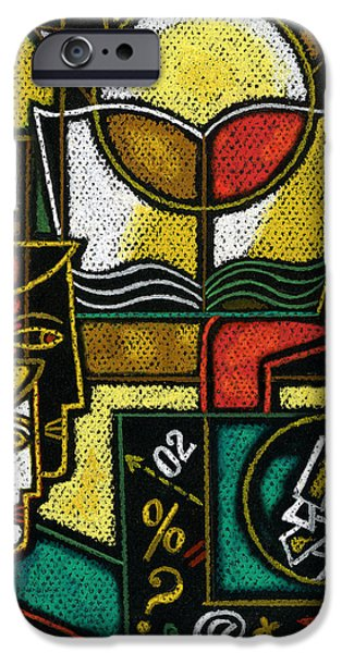 Object Paintings iPhone Cases - Research iPhone Case by Leon Zernitsky