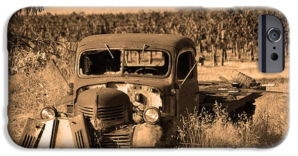 Vineyard Photograph iPhone Cases - Retired Relic iPhone Case by Barbara Snyder