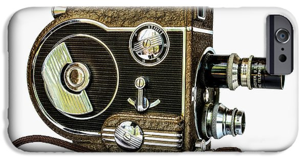 1950s Movies iPhone Cases - Revere 8 Movie Camera iPhone Case by Jon Woodhams