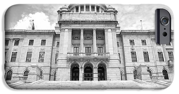 Historical Buildings iPhone Cases - Rhode Island State House iPhone Case by Lourry Legarde