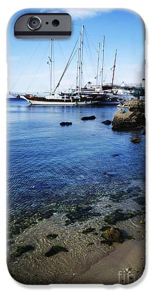 Coast Pyrography iPhone Cases - Rhodes iPhone Case by Jelena Jovanovic