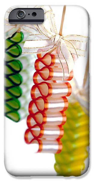 Hard Candies iPhone Cases - Ribbon Candy Portrait iPhone Case by Iris Richardson