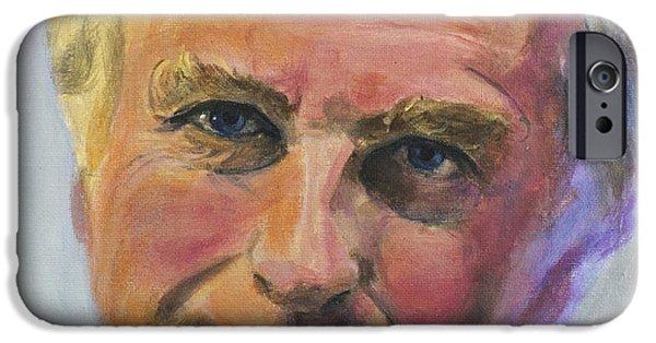 Richard iPhone Cases - Richard Dawkins iPhone Case by Simon Kregar
