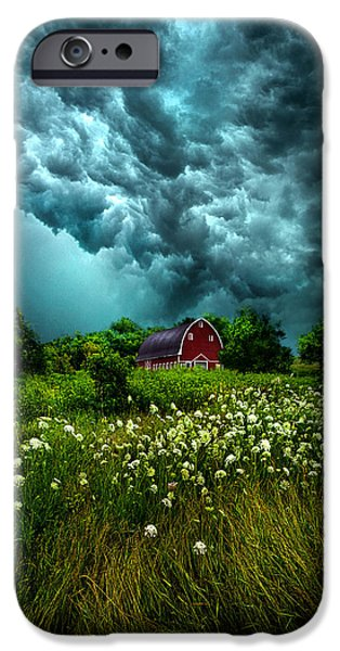 Storm iPhone Cases - Riding The Storm Out iPhone Case by Phil Koch