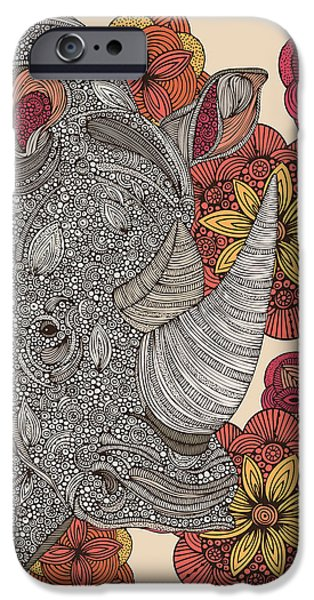 Floral Digital Art Digital Art Photographs iPhone Cases - Rino iPhone Case by Valentina Ramos