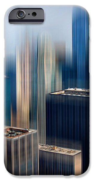 Ny Ny Digital Art iPhone Cases - Rising Metropolis iPhone Case by Az Jackson