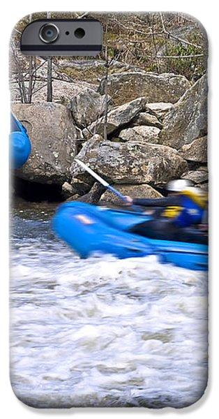 River Rafting iPhone Case by Susan Leggett