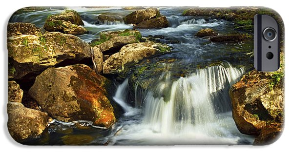 River iPhone Cases - River rapids iPhone Case by Elena Elisseeva