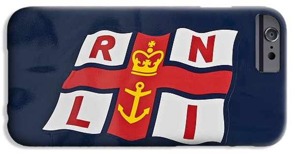 Coastguard iPhone Cases - R.n.l.i. iPhone Case by Nomad Art And  Design